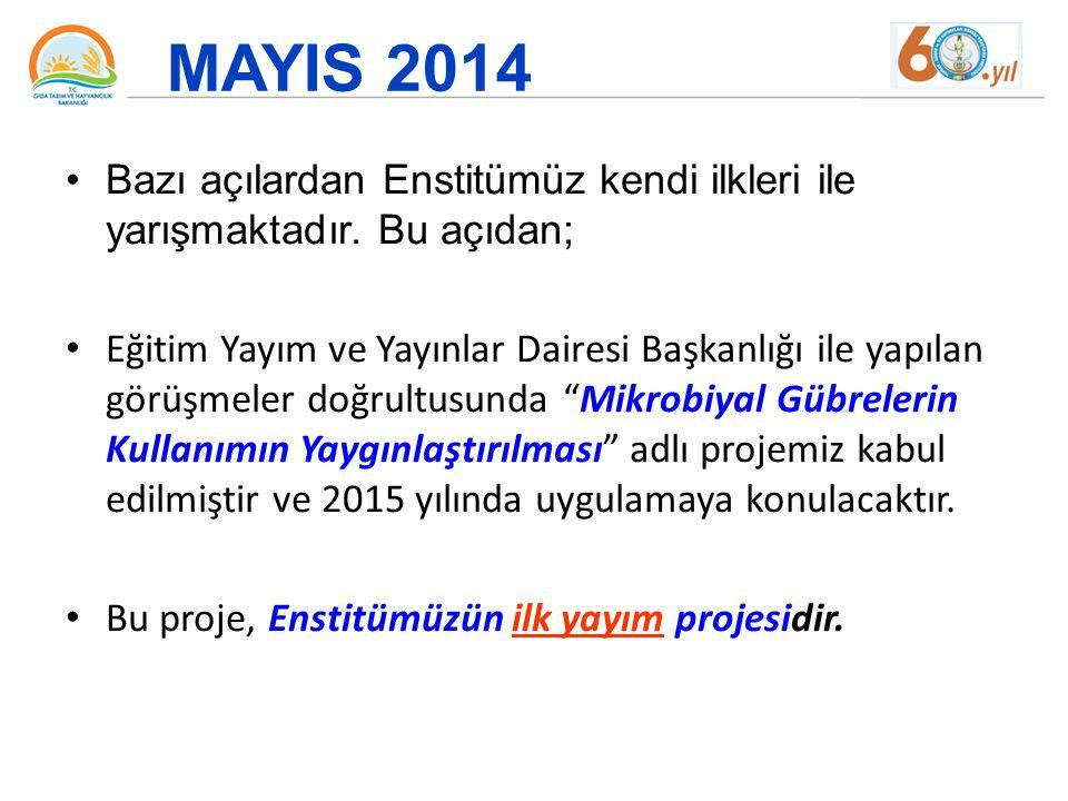 Haziran 2014 Ankara Kalkınma Ajansına Enstitü Hizmetlerinden Engelli Ve Yaşlı Bireylerin Kolay Erişimini Sağlayamaya Yönelik Fiziksel Altyapının Geliştirilmesi adlı sunulan projemizde kabul edilmiştir.