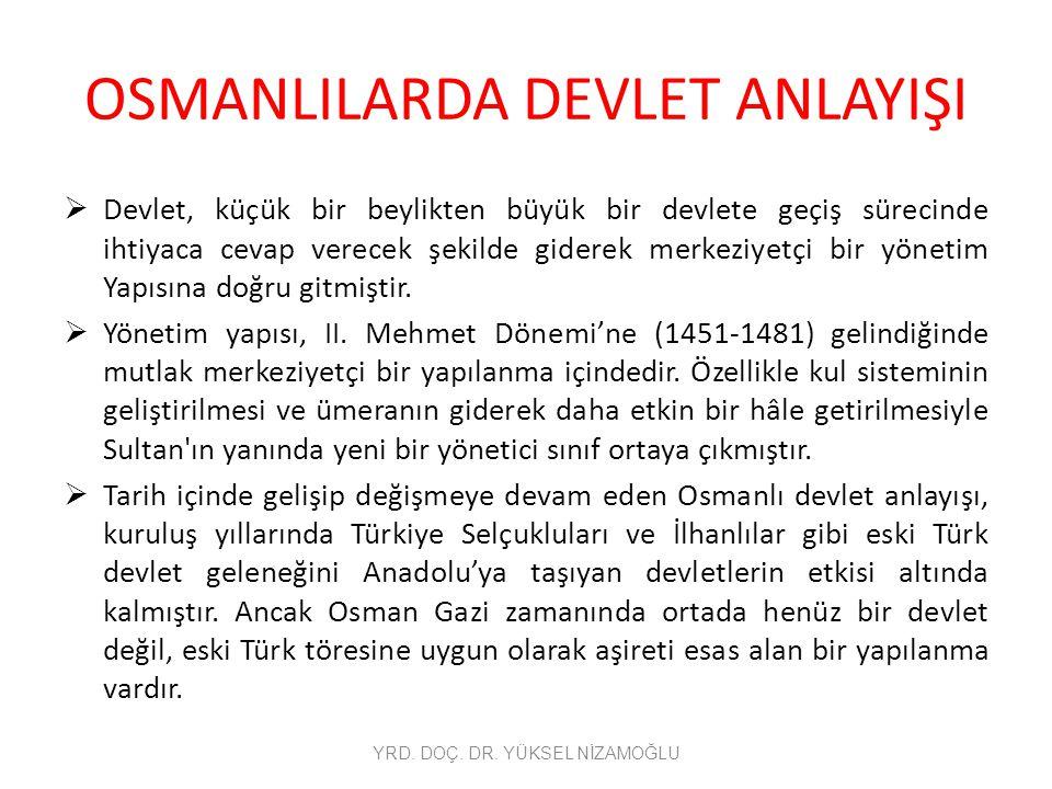 Osmanlılarda Taşra Teşkilatı Kazaların birleşmesinden oluşan sancakların idaresi ise sancakbeyinin yönetimindeydi.