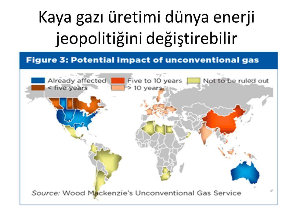 Kaya gazı üretimi dünya enerji jeopolitiğini değiştirebilir