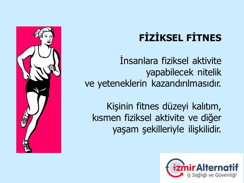 FİZİKSEL FİTNES İnsanlara fiziksel aktivite yapabilecek nitelik ve yeteneklerin kazandırılmasıdır.