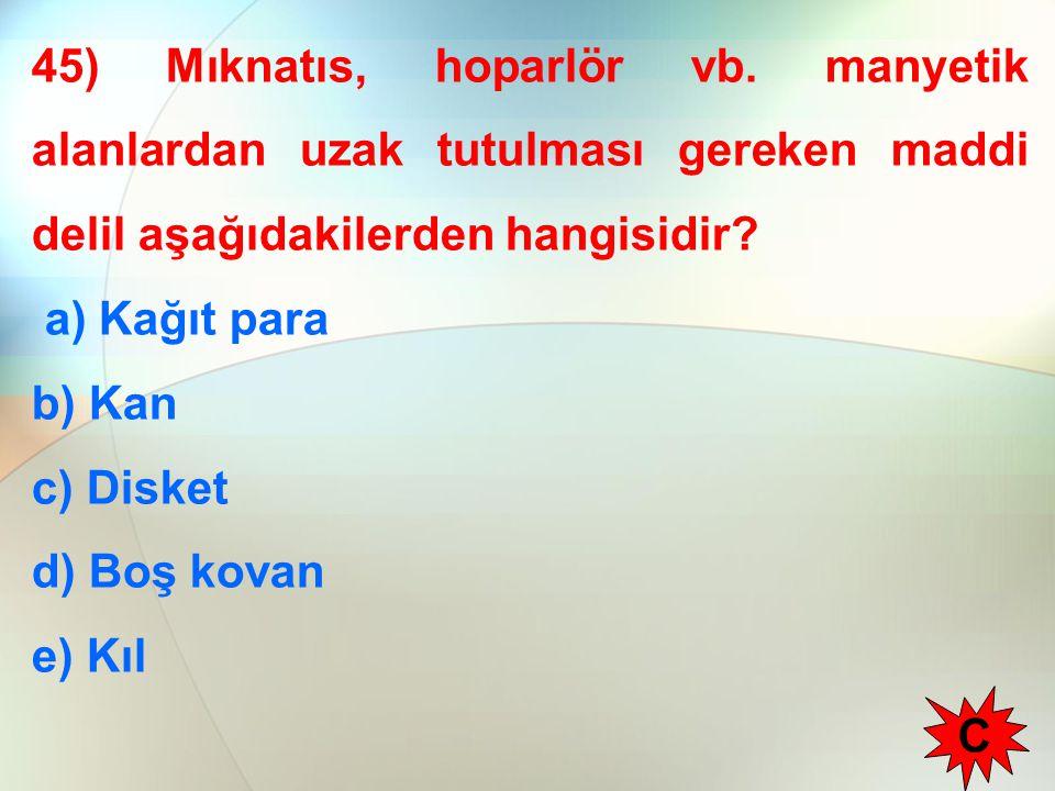 45) Mıknatıs, hoparlör vb.