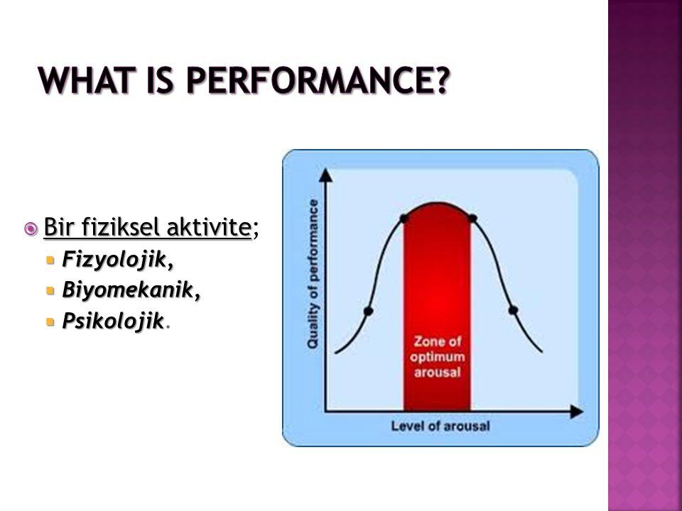  Bir fiziksel aktivite  Bir fiziksel aktivite;  Fizyolojik,  Biyomekanik,  Psikolojik  Psikolojik.