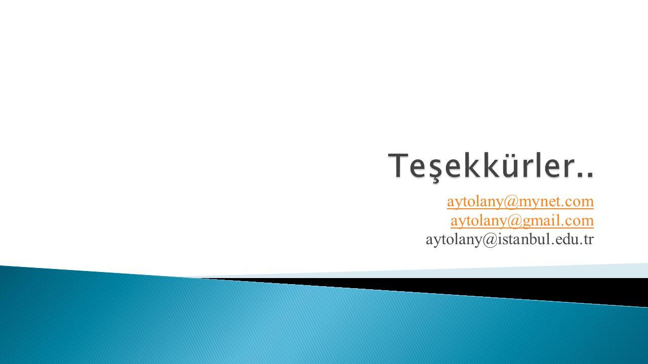aytolany@mynet.com aytolany@gmail.com aytolany@istanbul.edu.tr