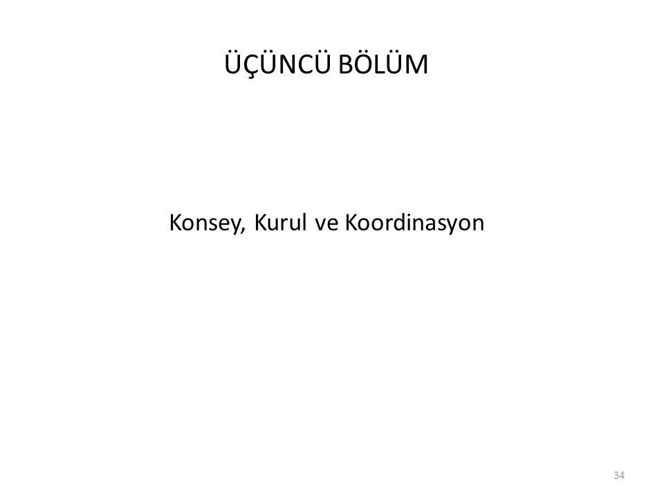 ÜÇÜNCÜ BÖLÜM Konsey, Kurul ve Koordinasyon 34