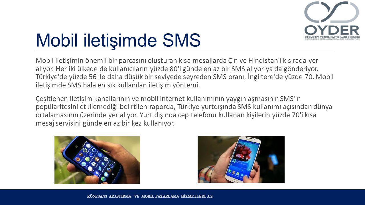 Mobil iletişimde SMS Mobil iletişimin önemli bir parçasını oluşturan kısa mesajlarda Çin ve Hindistan ilk sırada yer alıyor.