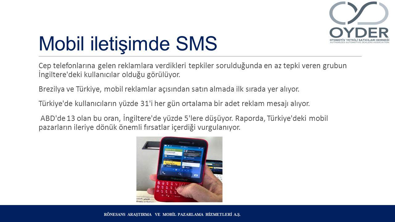 Mobil iletişimde SMS Cep telefonlarına gelen reklamlara verdikleri tepkiler sorulduğunda en az tepki veren grubun İngiltere deki kullanıcılar olduğu görülüyor.