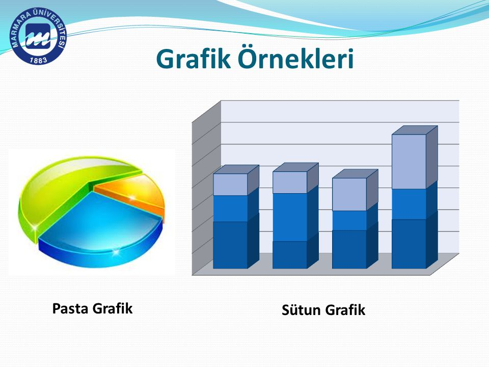 Grafik Örnekleri Pasta Grafik Sütun Grafik