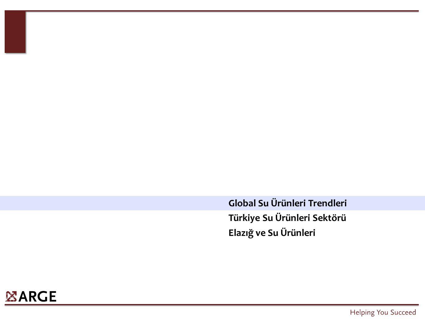 Global Su Ürünleri Trendleri Türkiye Su Ürünleri Sektörü Elazığ ve Su Ürünleri