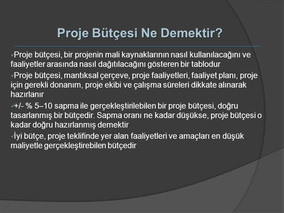 Proje Bütçesi Ne Demektir? Proje bütçesi, bir projenin mali kaynaklarının nasıl kullanılacağını ve faaliyetler arasında nasıl dağıtılacağını gösteren