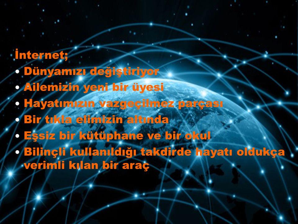 TÜRKİYE'DE İNTERNET KULLANIMI BTK VERİLERİ TÜİK VERLERİ