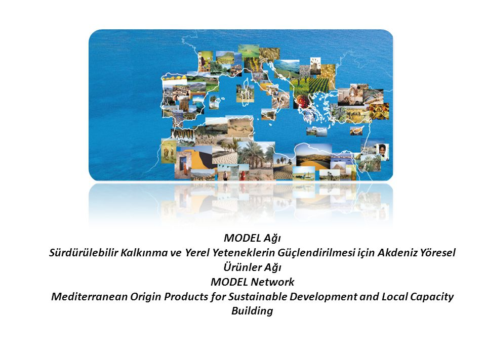 MODEL Ağı Sürdürülebilir Kalkınma ve Yerel Yeteneklerin Güçlendirilmesi için Akdeniz Yöresel Ürünler Ağı MODEL Network Mediterranean Origin Products for Sustainable Development and Local Capacity Building