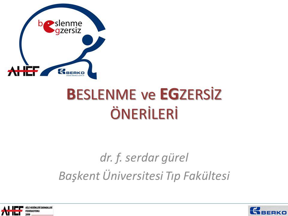 B ESLENME ve EG ZERSİZ ÖNERİLERİ dr. f. serdar gürel Başkent Üniversitesi Tıp Fakültesi