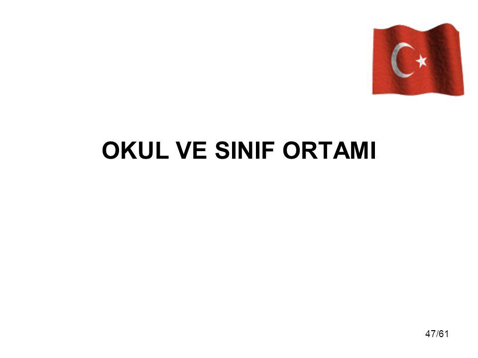OKUL VE SINIF ORTAMI 47/61