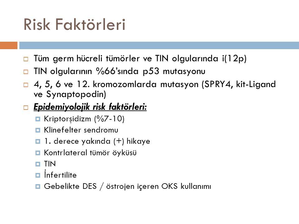 TNM Klasifikasyonu  NX : LN araştırılmamış. N0 : LN (-)  N1 : < 2 cm LN (+).