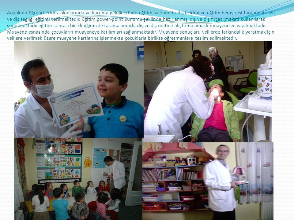 Okul diş hekimliği programı Merkezimizde merkezimize gelen 0-12 yaş grubu çocuklara koruyucu ağız ve diş sağlığı hizmeti verebilmekteyiz. Ayrıca koruy