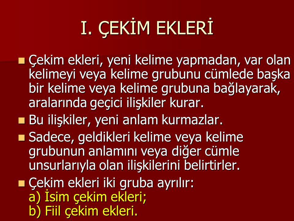 a) AD DURUM EKLERİ 5.
