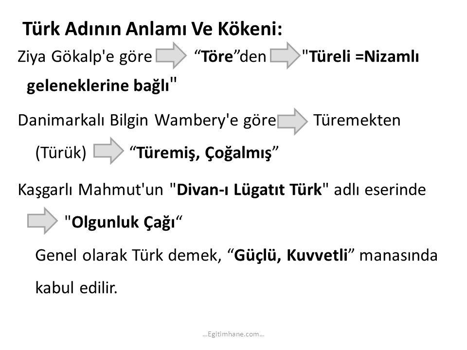 """Türk Adının Anlamı Ve Kökeni: Ziya Gökalp'e göre """"Töre""""den"""