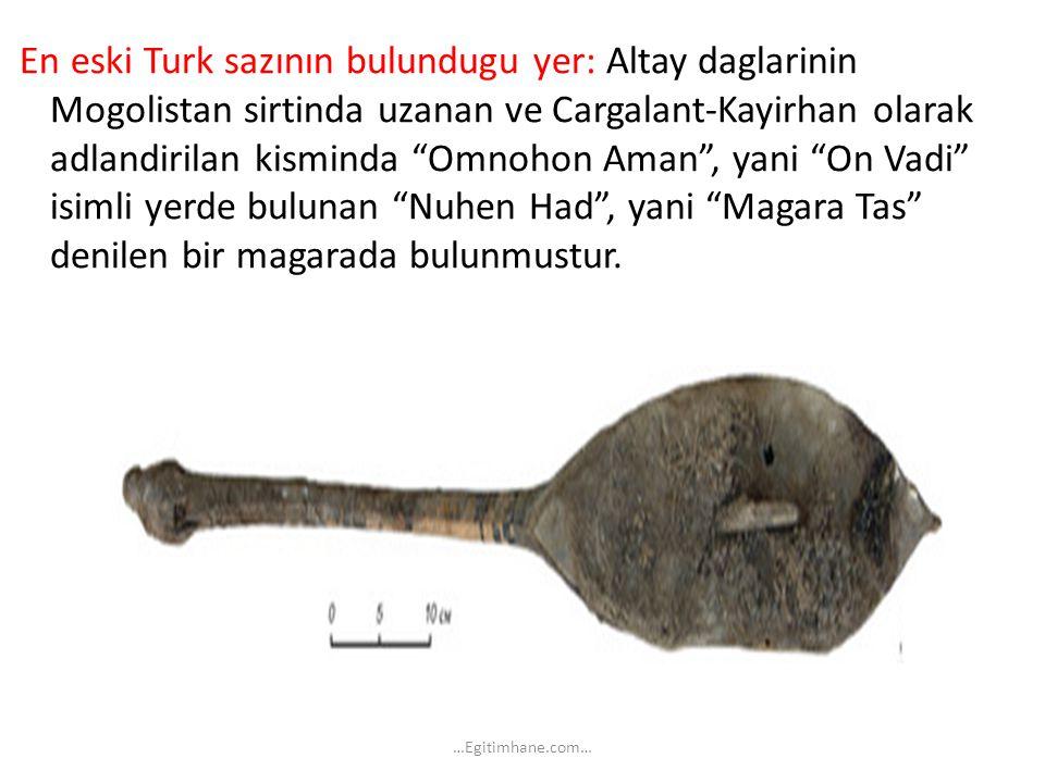 """En eski Turk sazının bulundugu yer: Altay daglarinin Mogolistan sirtinda uzanan ve Cargalant-Kayirhan olarak adlandirilan kisminda """"Omnohon Aman"""", yan"""