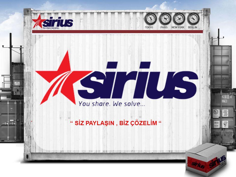 Sirius Gümrük Müşavirliği SİZ PAYLAŞIN, BİZ ÇÖZELİM sloganıyla yeni bir gümrükleme ve lojistik hizmet anlayışı içerisinde uzman ve deneyimli kadrosu ile on beş yılı aşkın bilgi ve tecrübeyi bir araya getirip kuruluşunu tamamlamış bir şirkettir.