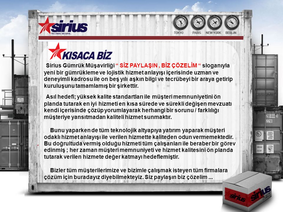 SİRİUS GÜMRÜK MÜŞAVİRLİĞİ LTD.ŞTİ.Cumhuriyet Mahallesi Nilüfer Hatun Cd.