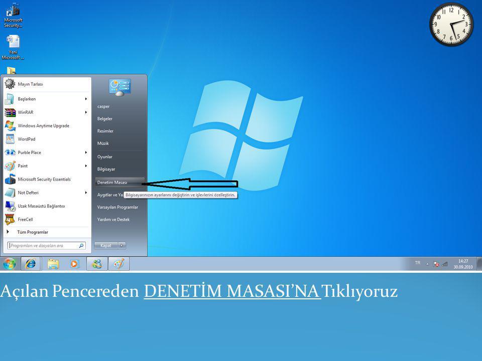 Windows7 Kullanıcı Hesapları Yönetimine Ulaşabilmek İçin Birkaç Adımı Takip Etmemiz Gerekecek.Öncelikle Windows Masa Üstünün Sol Al Köşesinde Bulunan