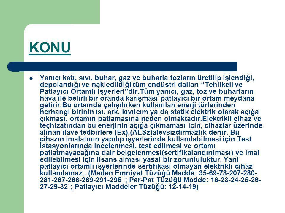 ALSz Test İstasyonu sadece TTK için değil Ex-Proof (Alevsızdırmaz) cihaz üreten ve kullanan tüm Türkiye Sanayii için kurulmuştur.