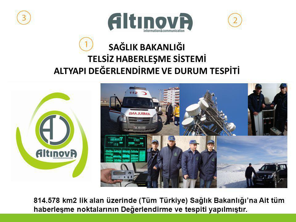 SAĞLIK BAKANLIĞI TELSİZ HABERLEŞME SİSTEMİ ALTYAPI DEĞERLENDİRME VE DURUM TESPİTİ 814.578 km2 lik alan üzerinde (Tüm Türkiye) Sağlık Bakanlığı'na Ait