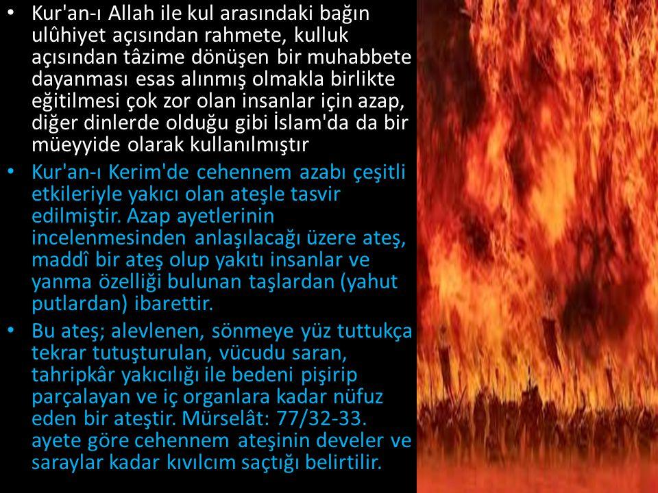 Kur'an-ı Allah ile kul arasındaki bağın ulûhiyet açısından rahmete, kulluk açısından tâzime dönüşen bir muhabbete dayanması esas alınmış olmakla birli