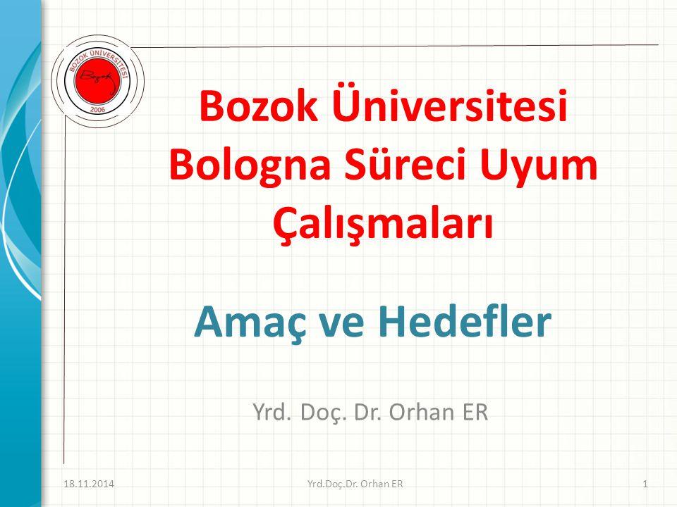 Bozok Üniversitesi Bologna Süreci Uyum Çalışmaları Yrd.