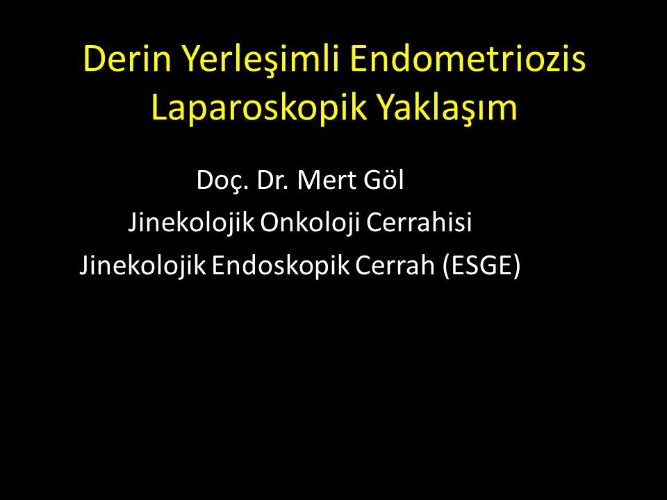 Derin Yerleşimli Endometriozis Laparoskopik Yaklaşım Doç. Dr. Mert Göl Jinekolojik Onkoloji Cerrahisi Jinekolojik Endoskopik Cerrah (ESGE)