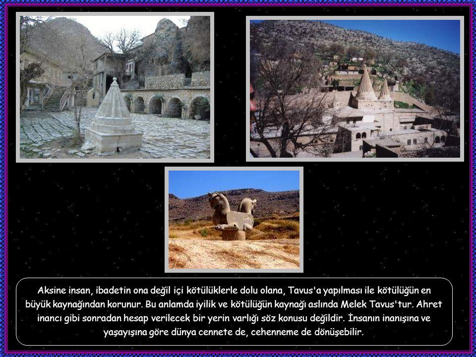 Yezidilikte Şeytanın sahip olduğu özellikler diğer dinlerden farklıdır. Yezidilikte Tanrı dünyanın sadece yaratıcısıdır, ancak sürdürücüsü değildir. T