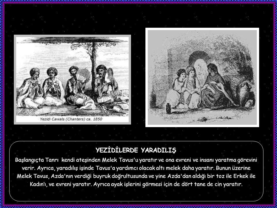 Melek Tavus bütün bu işlerin denetleyicisi ve Tanrının bu dünyadaki gölgesidir. Ayrıca Yezidiklik'teki Melek Tavus inancı, eski Zerdüştlük ve Mitraist