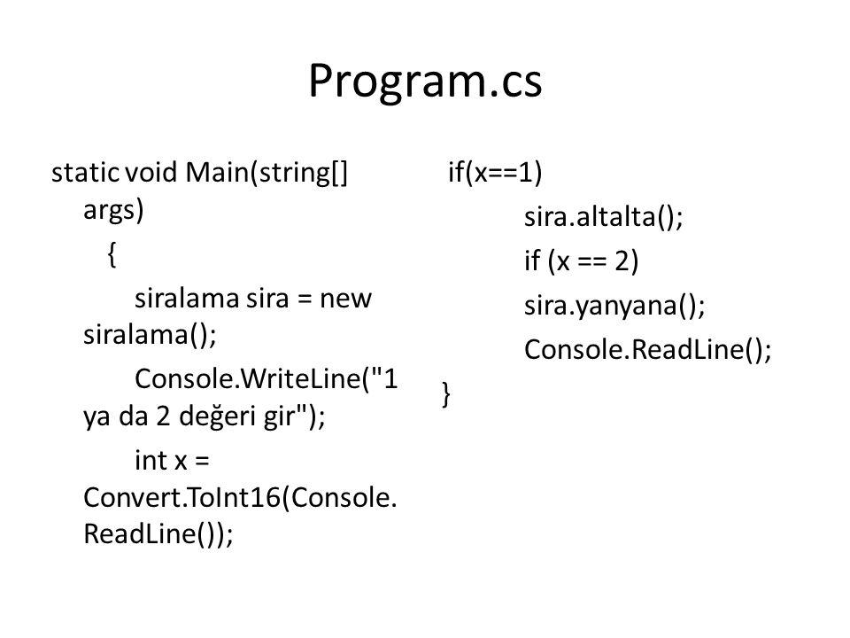 ÖRNEK 2 Matris sınıfı oluşturun: – Transpoze metodu olacak Metodun içerisinde: – Matris satır ve sütun sayısı kullanıcıdan alınacak(kare matris) – Matris değerleri alınacak – Matrisin transpozu ekrana yazılacak Main() fonksiyonunda matris sınıfının transpoze metodu çağrılacak.