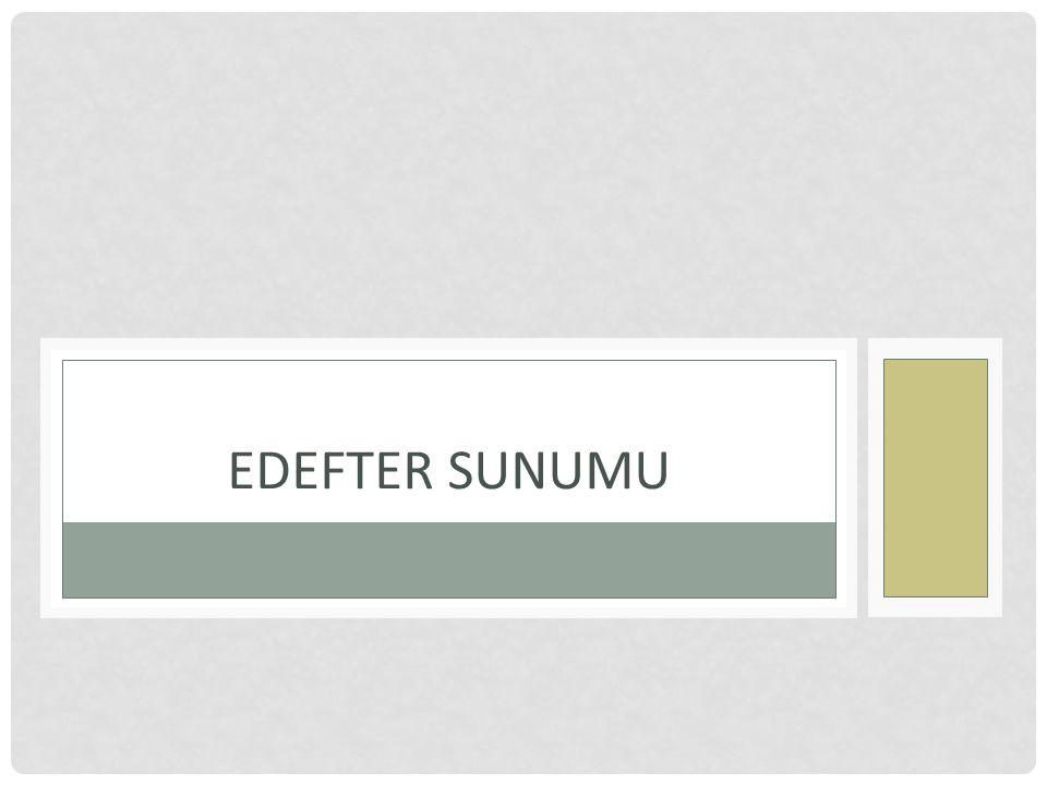 EDEFTER SUNUMU