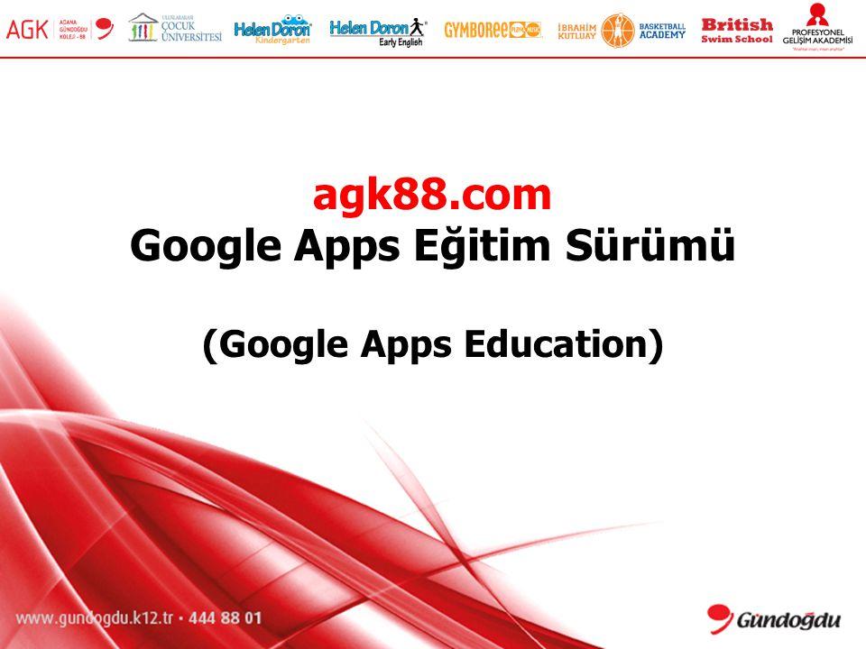 agk88.com Google Apps Eğitim Sürümü (Google Apps Education)
