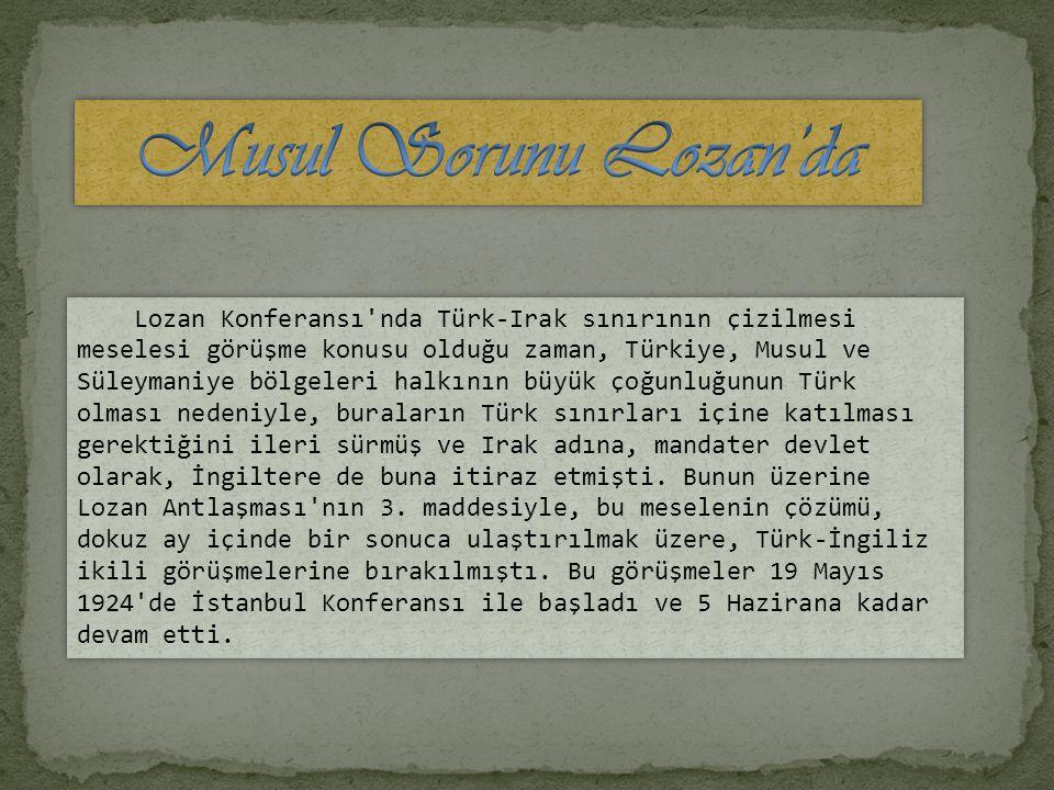 Osmanlı Devleti ne ba ğ lı Musul Vilayeti nin toprak sorunudur.