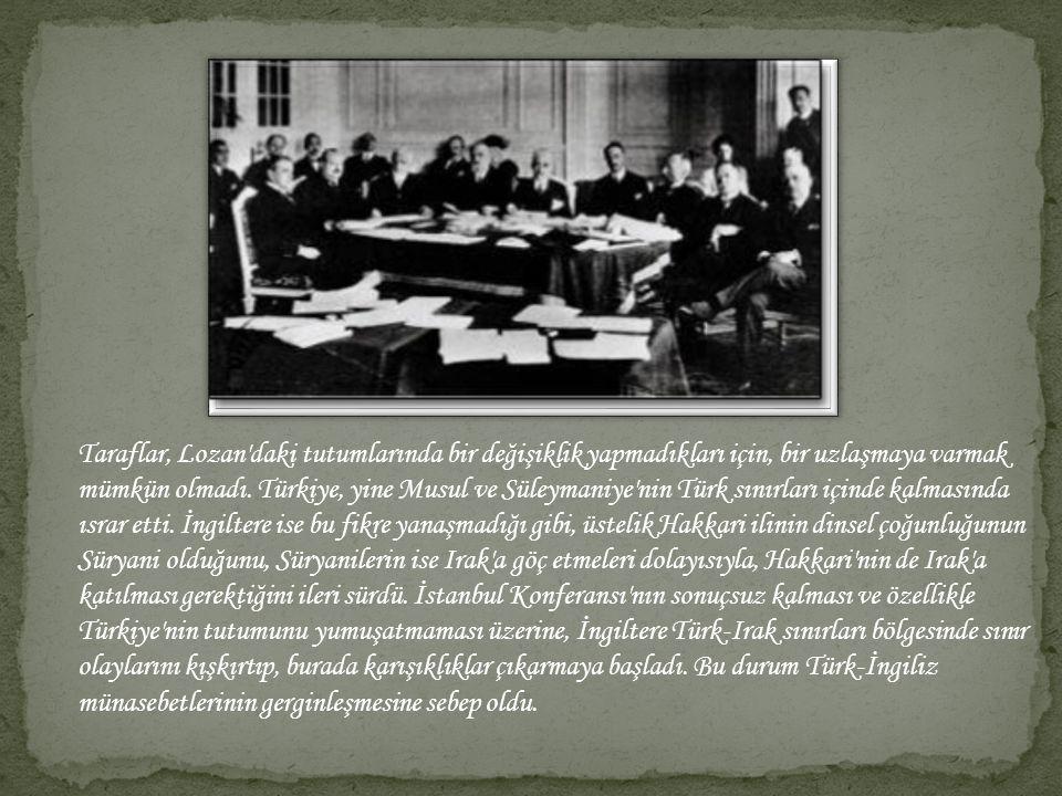 -http://tr.wikipedia.org/wiki/Musul_Sorunu -http://www.ansiklopedi.turkcebilgi.com/Musul_sorunu -www.bilgilik.com/tarih/turkiye-tarihi/musul-sorunu.html -Anafen 8.Sınıf T.C İnkılap Tarihi Ve Atatürkçülük Kitabı
