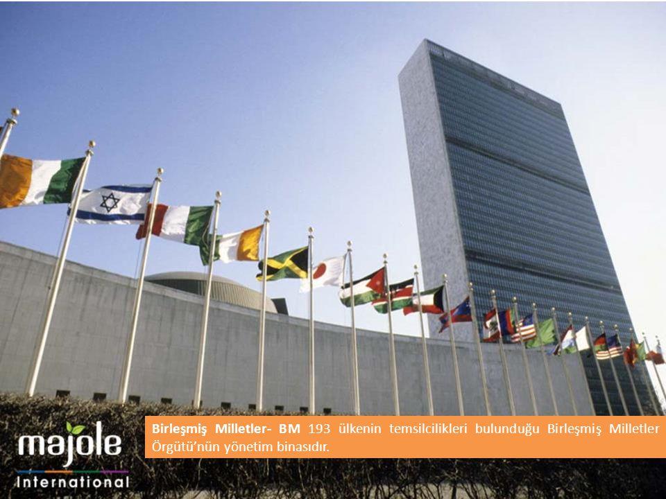 Birleşmiş Milletler- BM 193 ülkenin temsilcilikleri bulunduğu Birleşmiş Milletler Örgütü'nün yönetim binasıdır.
