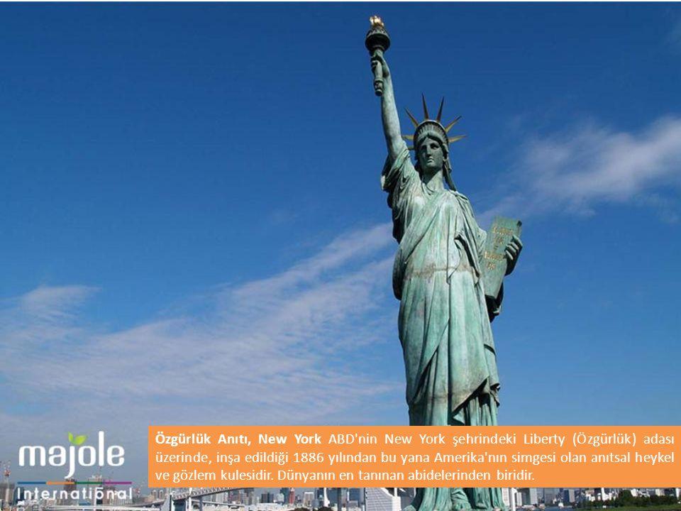 Özgürlük Anıtı, New York ABD'nin New York şehrindeki Liberty (Özgürlük) adası üzerinde, inşa edildiği 1886 yılından bu yana Amerika'nın simgesi olan a