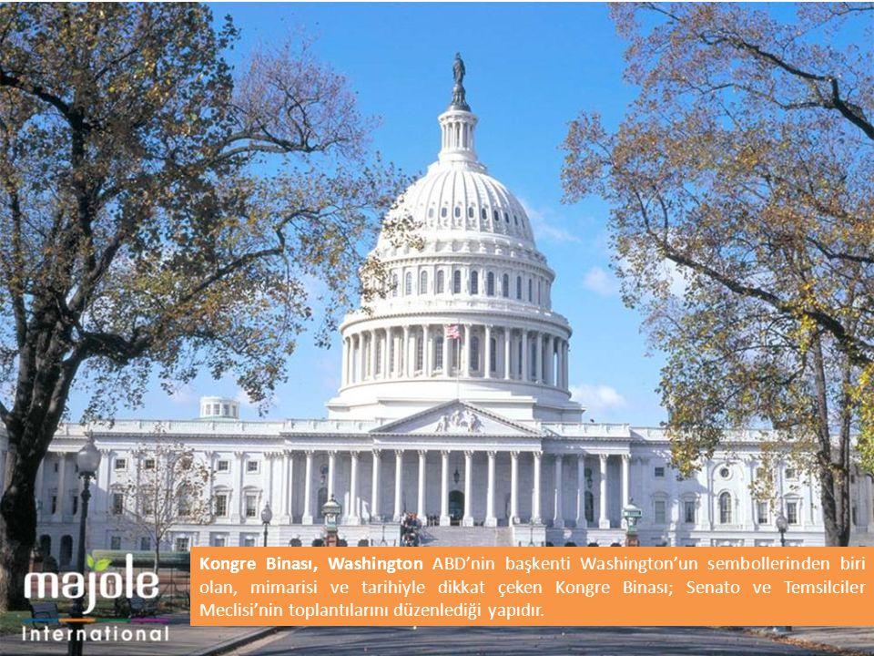 Kongre Binası, Washington ABD'nin başkenti Washington'un sembollerinden biri olan, mimarisi ve tarihiyle dikkat çeken Kongre Binası; Senato ve Temsilc