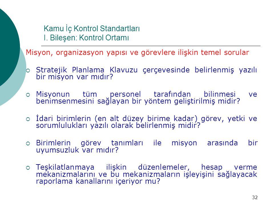 Kamu İç Kontrol Standartları I.