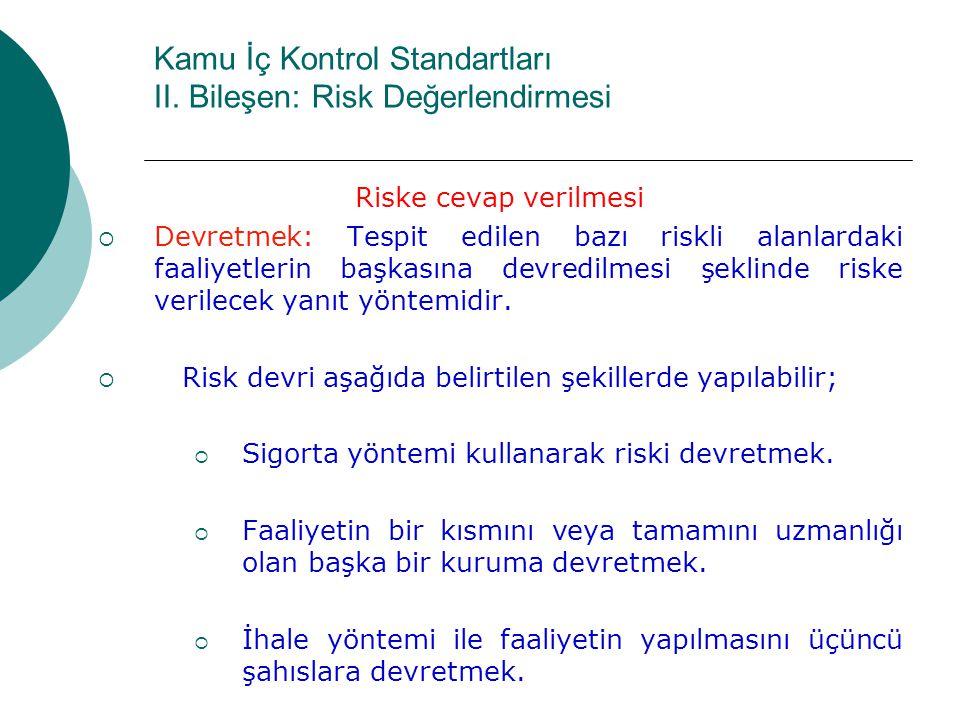Kamu İç Kontrol Standartları II.