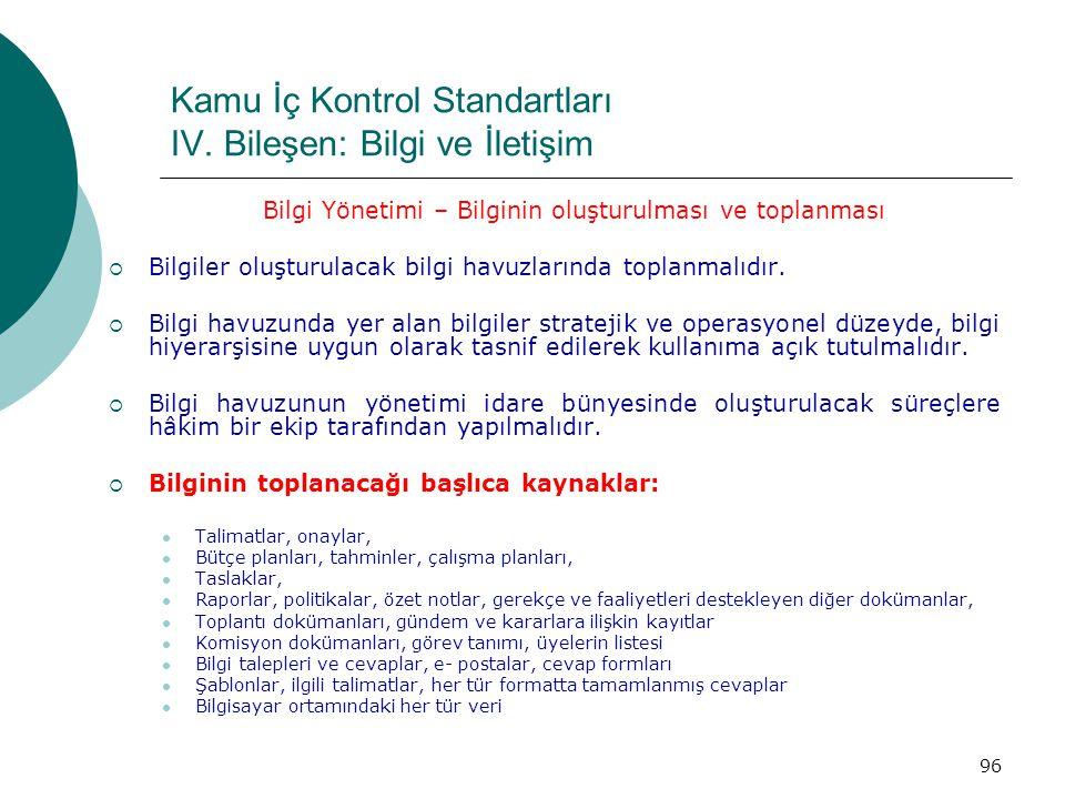 Kamu İç Kontrol Standartları IV.