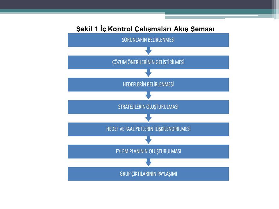Şekil 1 İç Kontrol Çalışmaları Akış Şeması