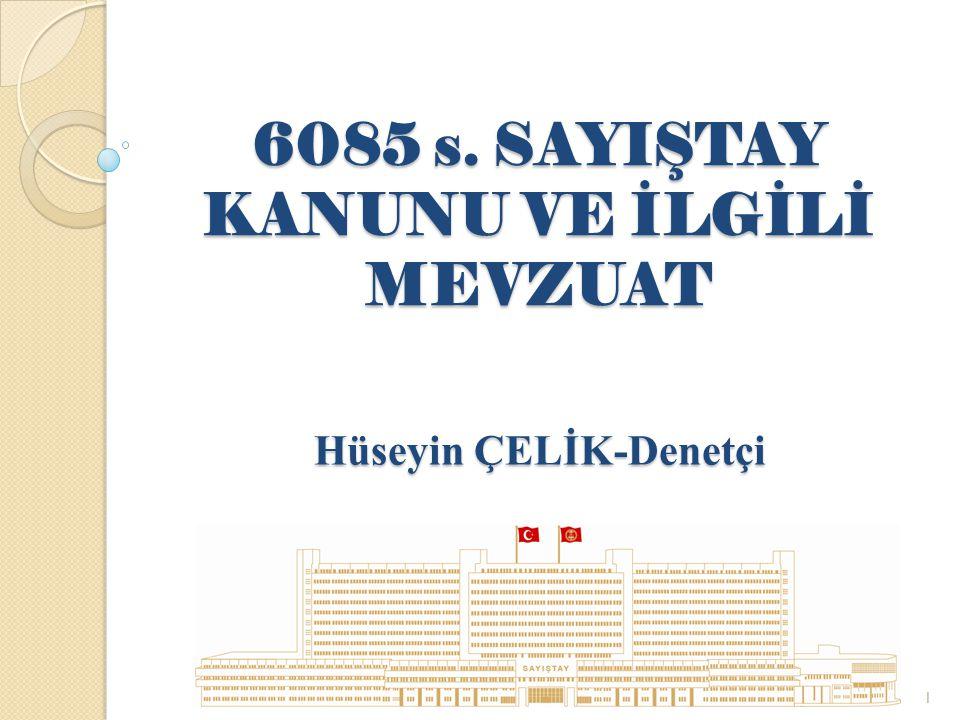Dış Denetimin Amacı (5018/md.60) Hesap verme sorumlulu ğ u çerçevesinde, Genel yönetim kapsamındaki kamu idareleri yönetimlerinin, Malî faaliyet, karar ve işlemlerinin; Kanunlara, kurumsal amaç, hedef ve planlara uygunluk yönünden, İ ncelenmesi, Sonuçlarının Türkiye Büyük Millet Meclisine raporlanmasıdır.