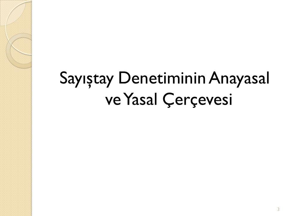 (6085/md.34) Denetimin amacı (6085/md.34) Denetim; a) Bütçe hakkının gere ğ i olarak kamu idarelerinin faaliyet sonuçları hakkında Türkiye Büyük Millet Meclisine ve kamuoyuna güvenilir ve yeterli bilgi sunulması, b) Kamu mali yönetiminin hukuka uygun olarak yürütülmesi ve kamu kaynaklarının korunması, c) Kamu idarelerinin performansının de ğ erlendirilmesi, ç) Hesap verme sorumlulu ğ u ve mali saydamlı ğ ın yerleştirilmesi ve yaygınlaştırılması, amacıyla gerçekleştirilir.