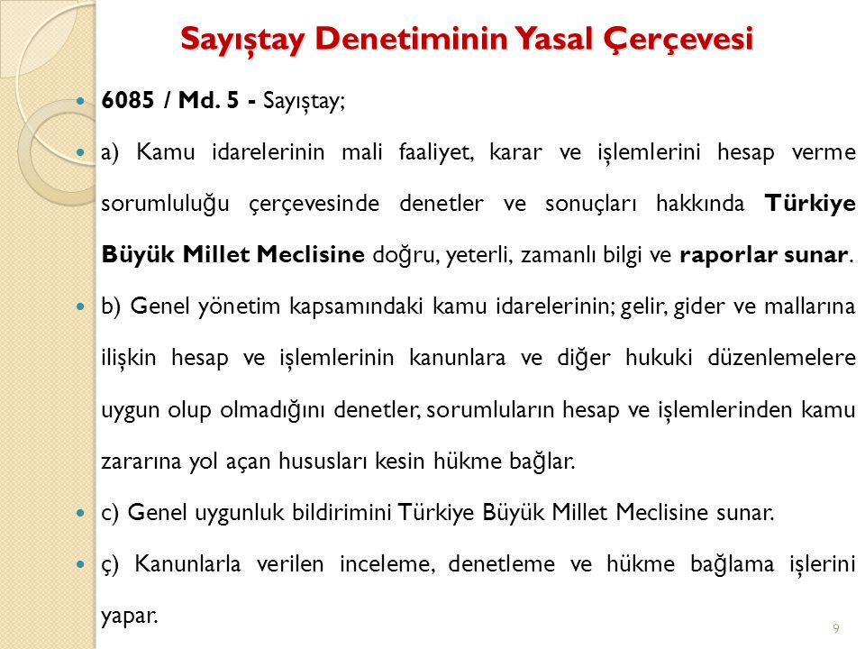 Sayıştay Raporu Denetim ve incelemeler sonucu hazırlanarak Sayıştay Başkanı tarafından Türkiye Büyük Millet Meclisine sunulan veya kamu idarelerine gönderilen raporu ifade eder.