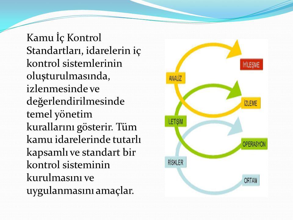 Kamu İç Kontrol Standartları, idarelerin iç kontrol sistemlerinin oluşturulmasında, izlenmesinde ve değerlendirilmesinde temel yönetim kurallarını gösterir.