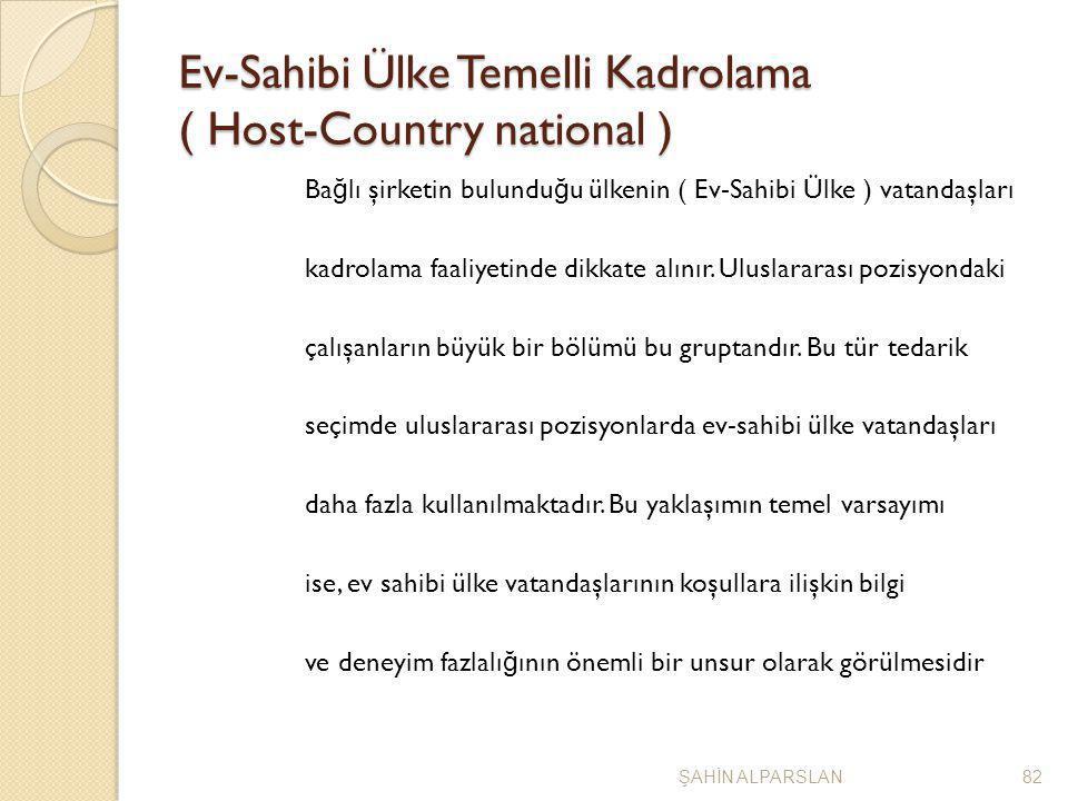 Ev-Sahibi Ülke Temelli Kadrolama ( Host-Country national ) Ba ğ lı şirketin bulundu ğ u ülkenin ( Ev-Sahibi Ülke ) vatandaşları kadrolama faaliyetinde