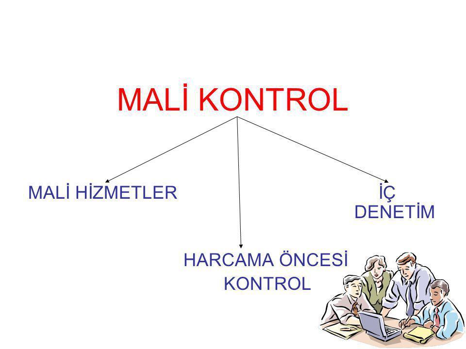8 MALİ KONTROL MALİ HİZMETLER İÇ DENETİM HARCAMA ÖNCESİ KONTROL